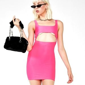 DollsKill Hot Pink Mini Dress